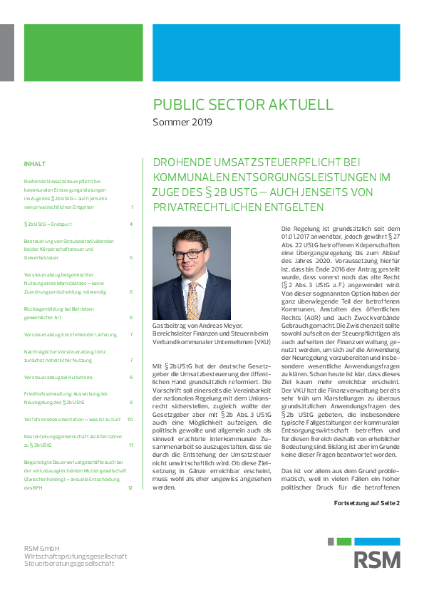 Public Sector aktuell | Sommer 2019