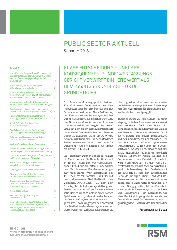 Public Sector aktuell | Sommer 2018