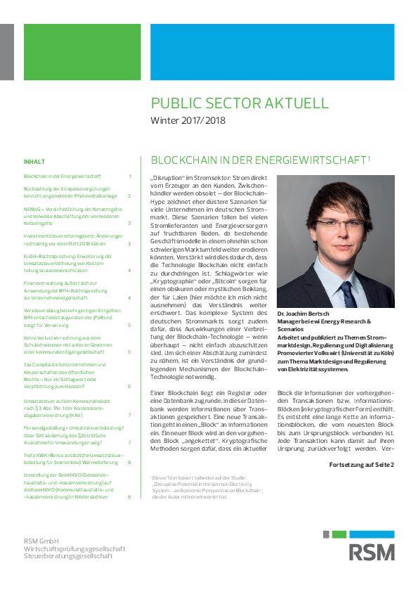Public Sector aktuell | Winter 2017/2018